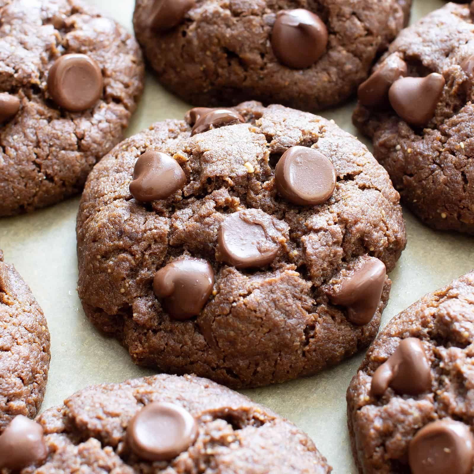 Gf Chocolate Tahini Cookies This Flourless Chocolate Chip Cookie