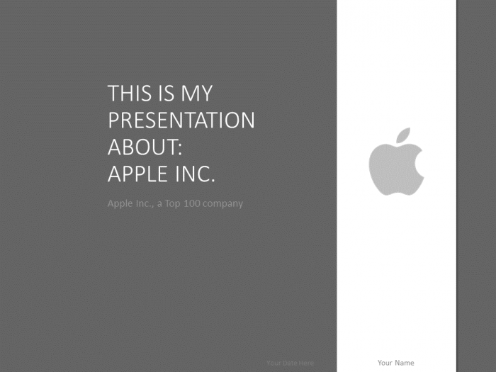 Apple PowerPoint Template Grey