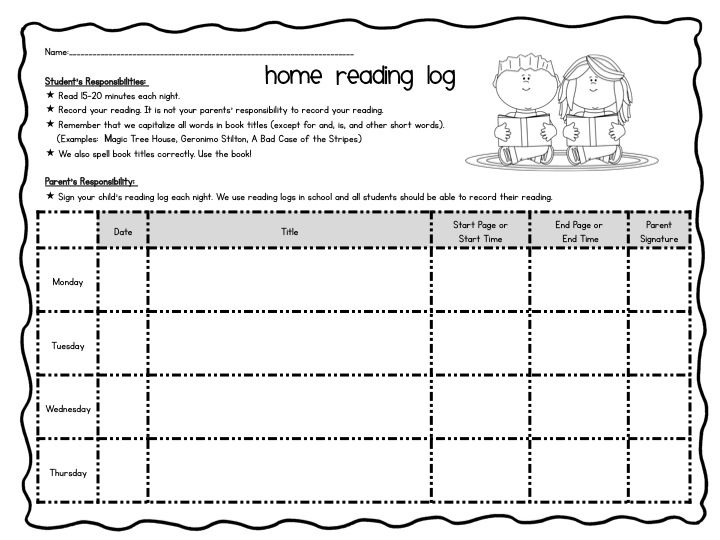 independent reading log for home FREEBIE   Educate!   Pinterest ...