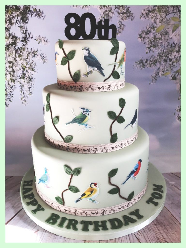 Pleasing 23 Inspiration Image Of Bird Birthday Cake With Images Personalised Birthday Cards Cominlily Jamesorg