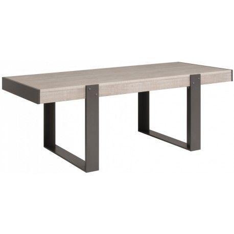 A base de gris loft et de gris ombre, cette table de salle à manger - table de salle a manger grise