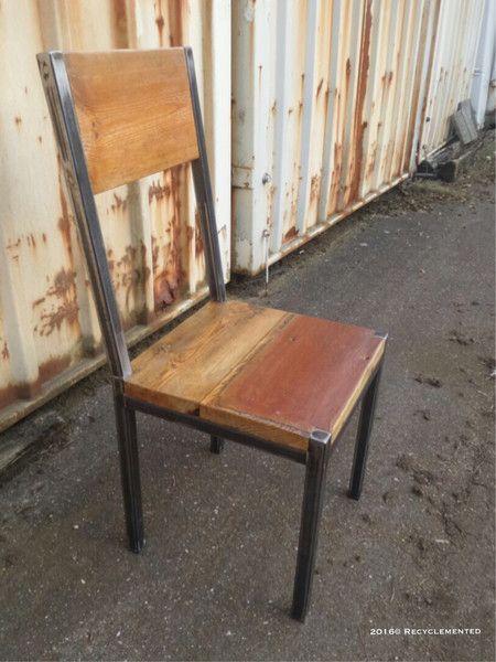 Stuhle Holz Und Stahl Stuhl Ein Designerstuck Von Recyclemen
