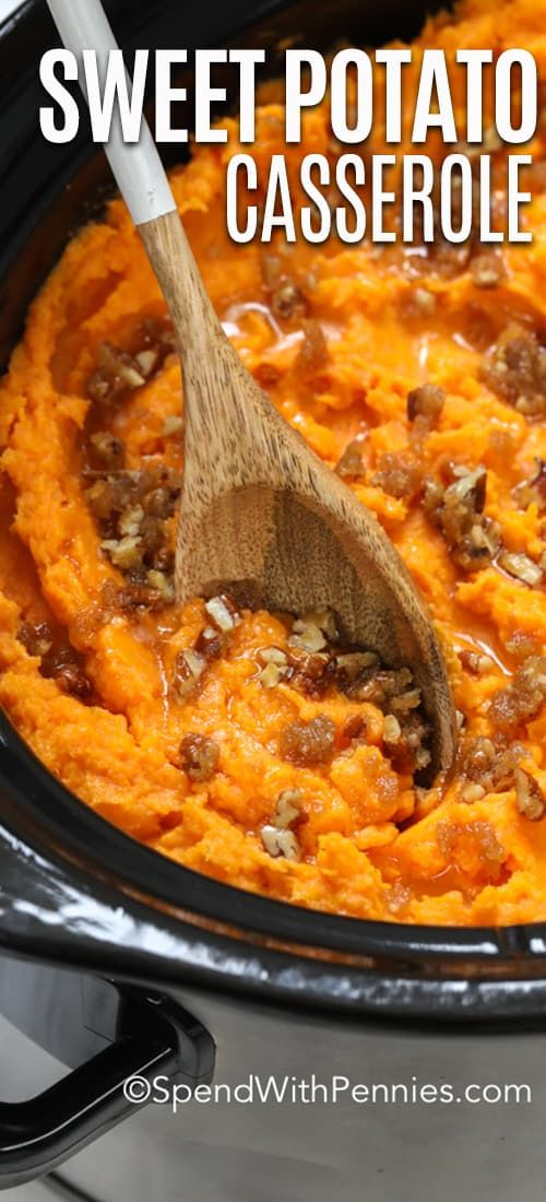 Crockpot Sweet Potato Casserole {Classic Side} - Spend With Pennies