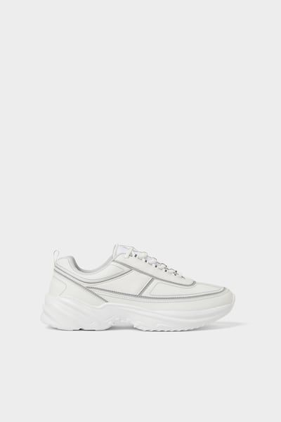 Thick Soled Sneakers With Reflective Details Sneakers Detail Zara