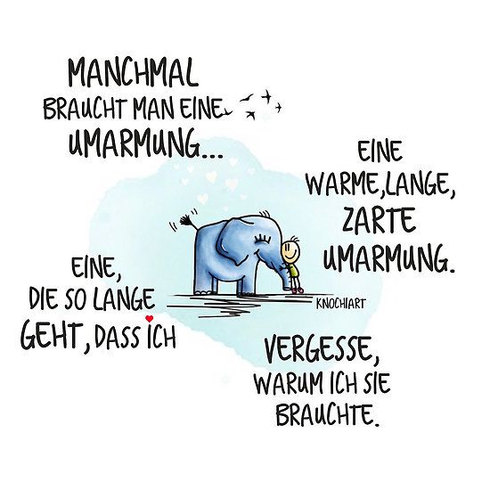 Genau so eine. #Umarmung - KnochiART