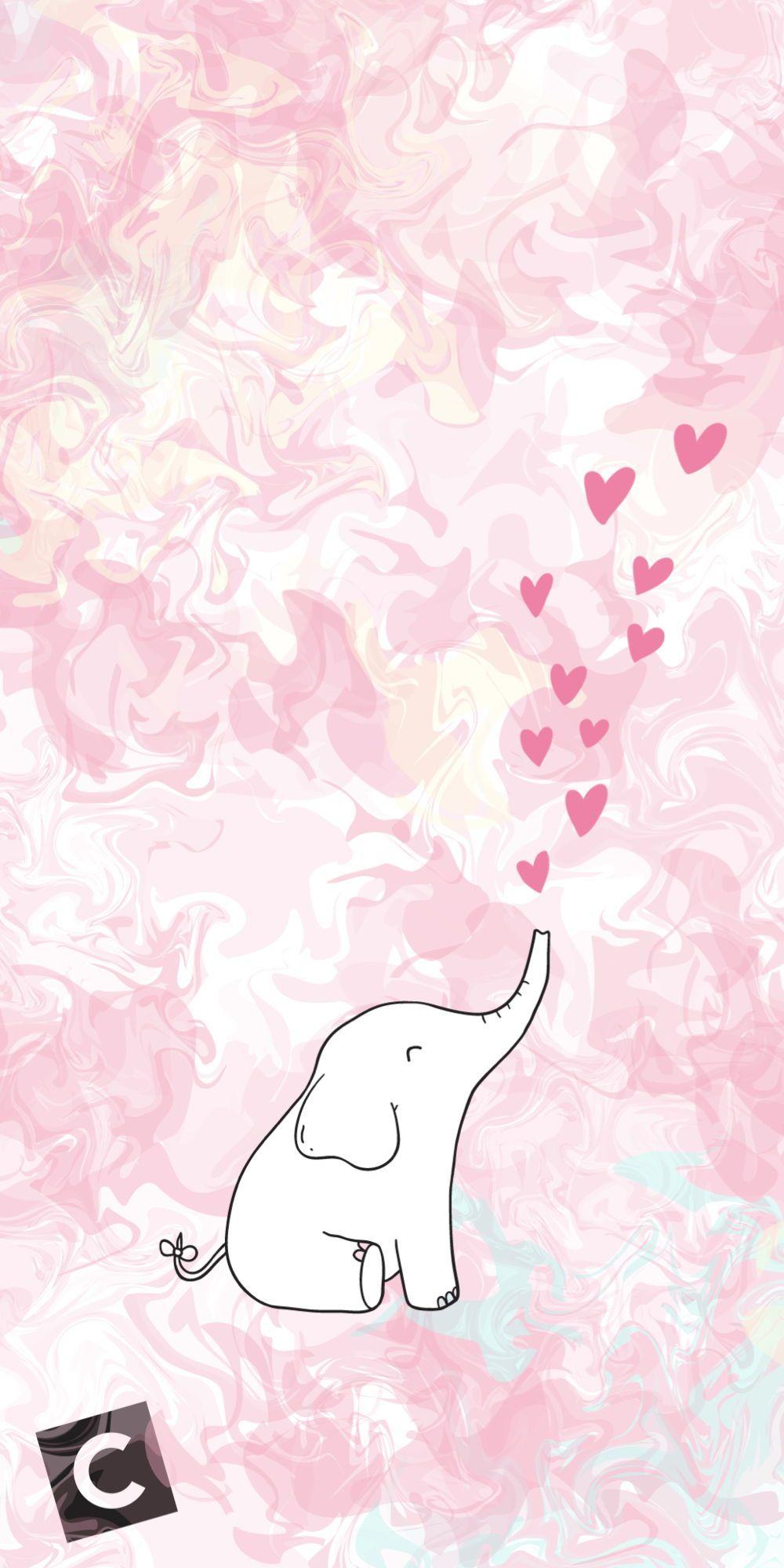 Casetify Iphone Art Design Illustration Nature Animals Cute Elephant Wallpaper Kawaii Wallpaper Art Design