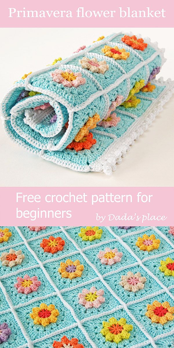 This Granny Square Blanket Is Ideal Project For Beginners Because