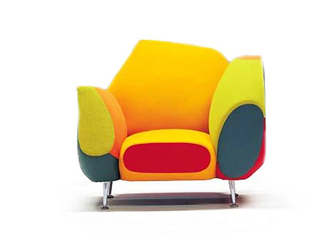 Wow ~ What A Colorful Chair! / Les Muebles Amorosos / Design By Javier  Mariscal For Moroso Design Inspirations