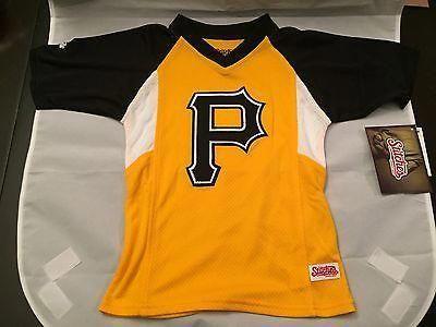 7fe04bbf MLB Pittsburgh Pirates Youth Size 4 Stitches V-Neck Jersey  www.mancavesonline.com #youthbaseball