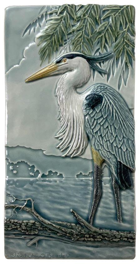 B44 4×8 Great Blue Heron Tile