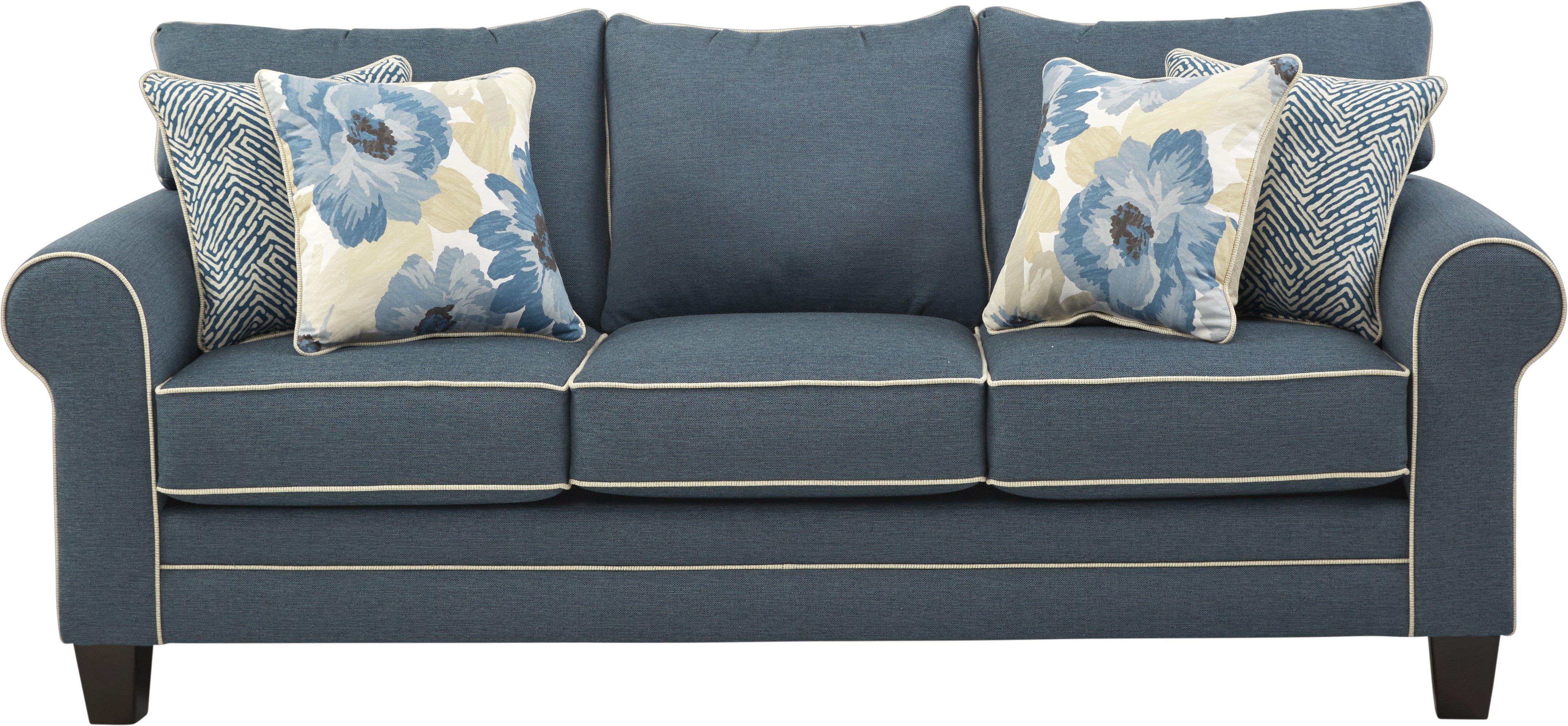 Spring Blooms Blue Sleeper Blue Sofa Blue Sofa Room Sleeper Sofa