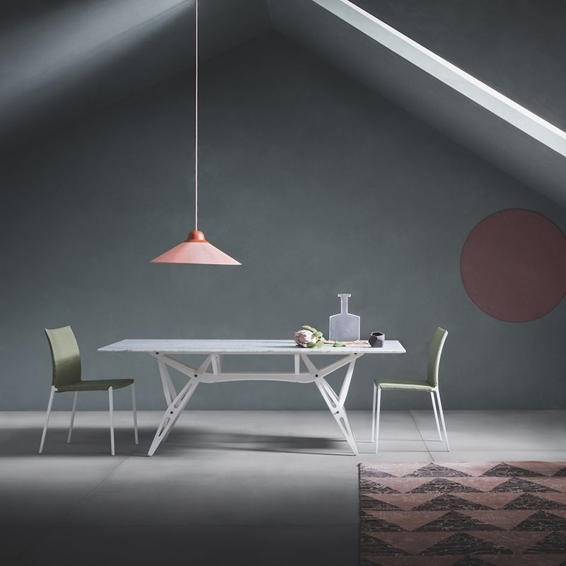 Table Reale Marbre Zanotta En 2020 Table Salle A Manger Table Marbre Et Marbre