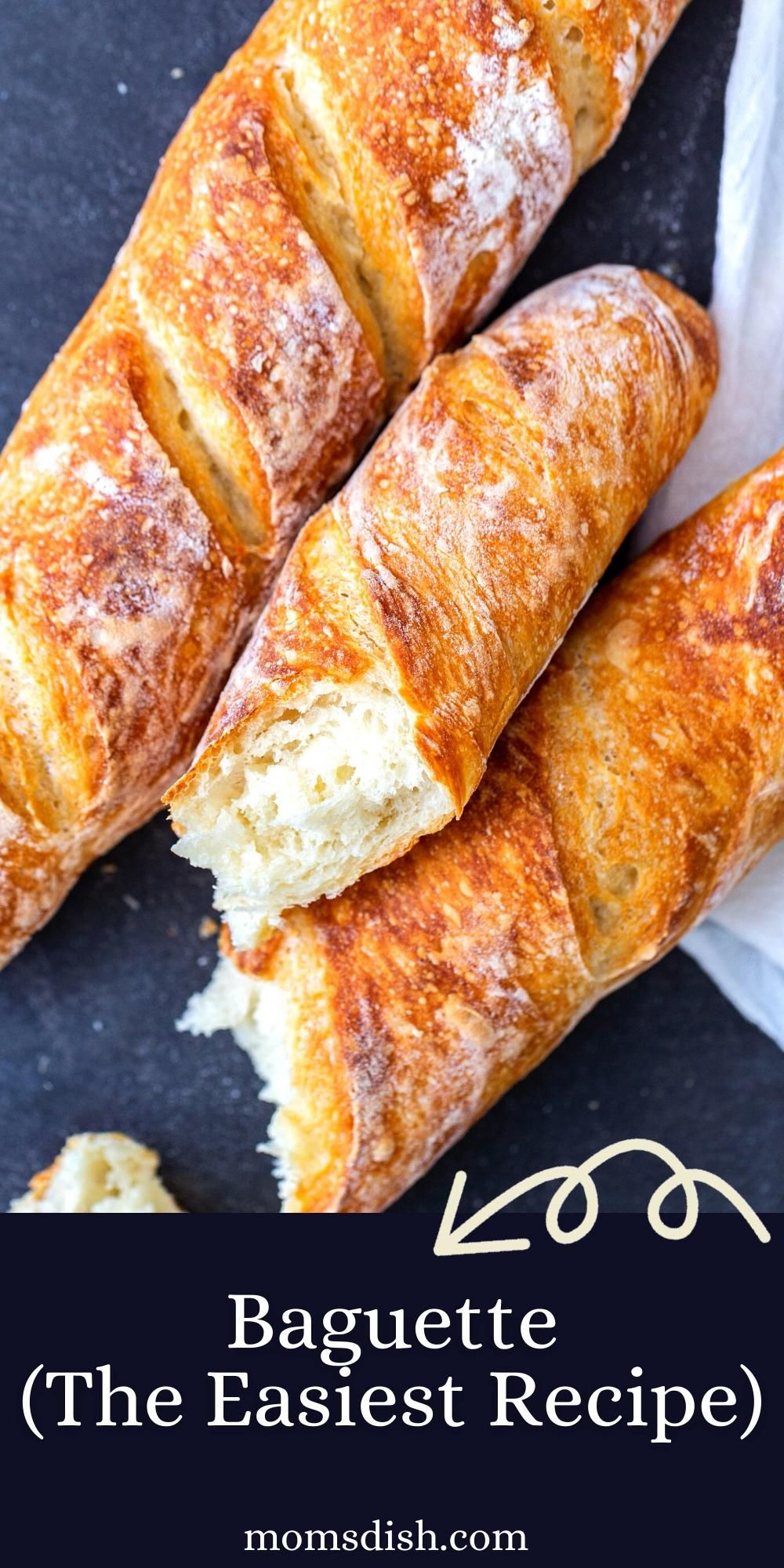 Baguette (The Easiest Recipe)