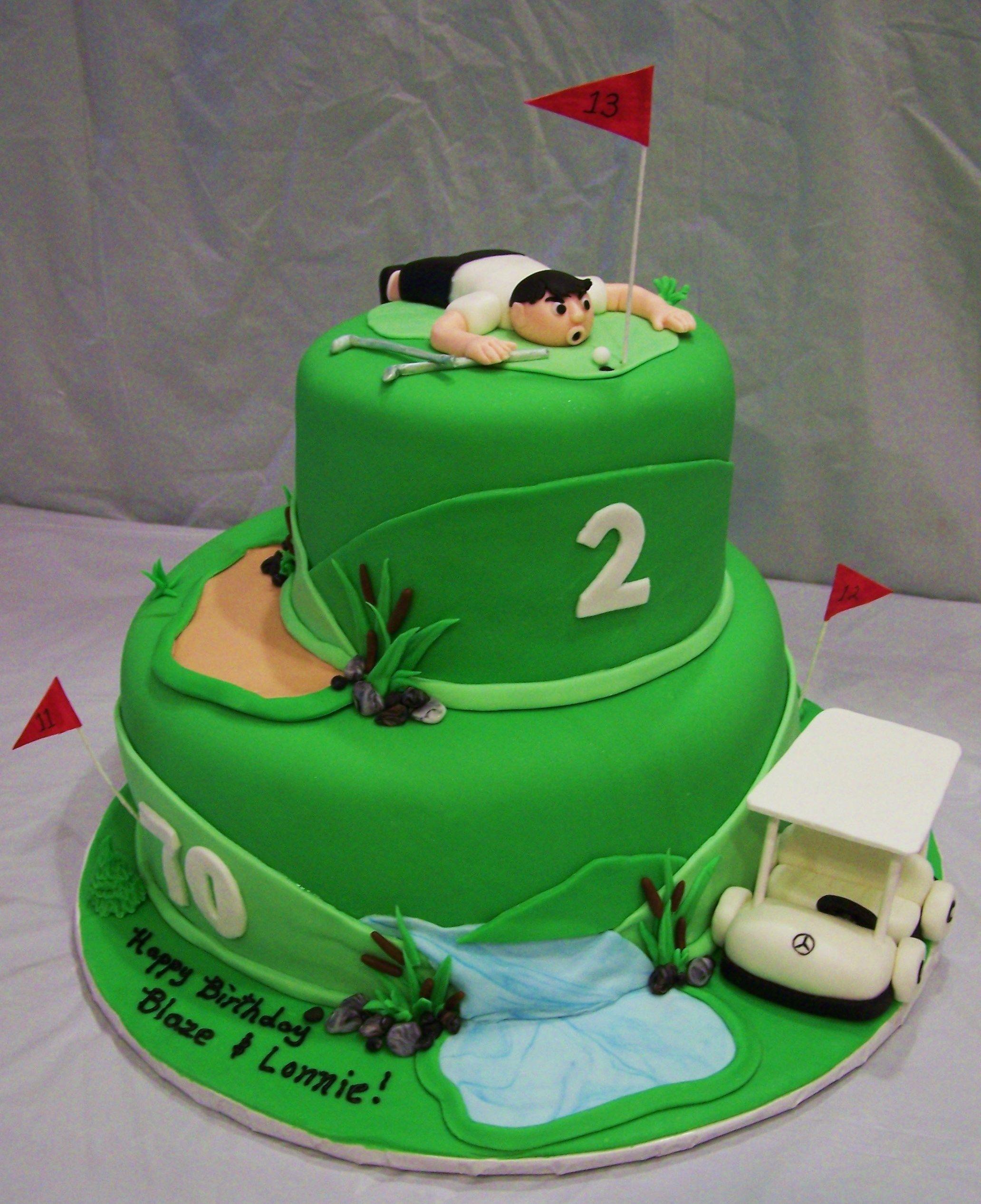 Golf Themed Birthday Cake