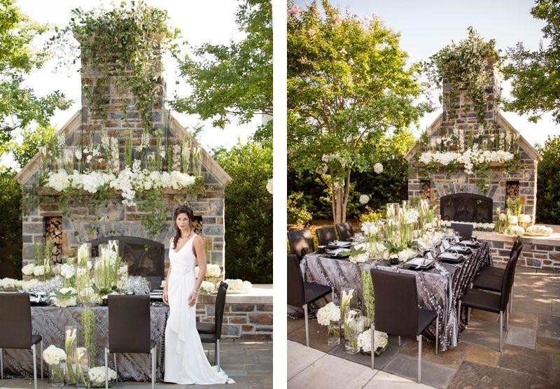 Bridal Table Set Up At The Washington Duke Inn In Durham Nc Www