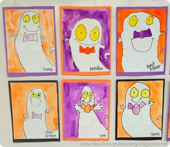 Ghost Directed Drawings Halloween Craftivity Art Project Bulletin