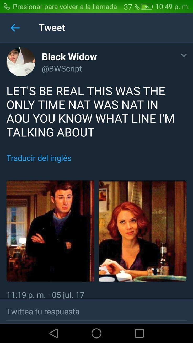 The Spanish Part Says Press To Return To Call Meaning Someone Was Avoiding Another Person To Get The Screen Shot Marvel Superheroes Romanogers Marvel Funny