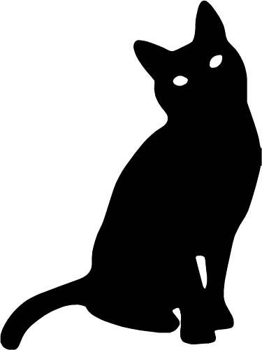 Cat Silhouette Vinyl Sticker Decal Car Laptop Window Birthday - Vinyl decal cat pinterest
