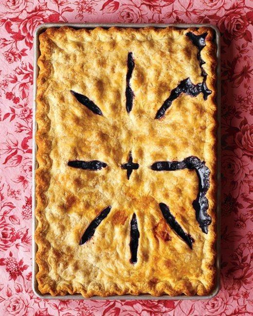 Blueberry Slab Pie Recipe Recipe Potluck Desserts Slab Pie Recipes Blueberry Slab Pie Recipe