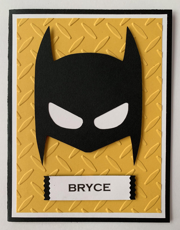 Handmade Personalized Batman Birthday Card Boy Or Girl Party Birthday In 2021 Birthday Cards For Boys Batman Birthday Homemade Birthday Cards