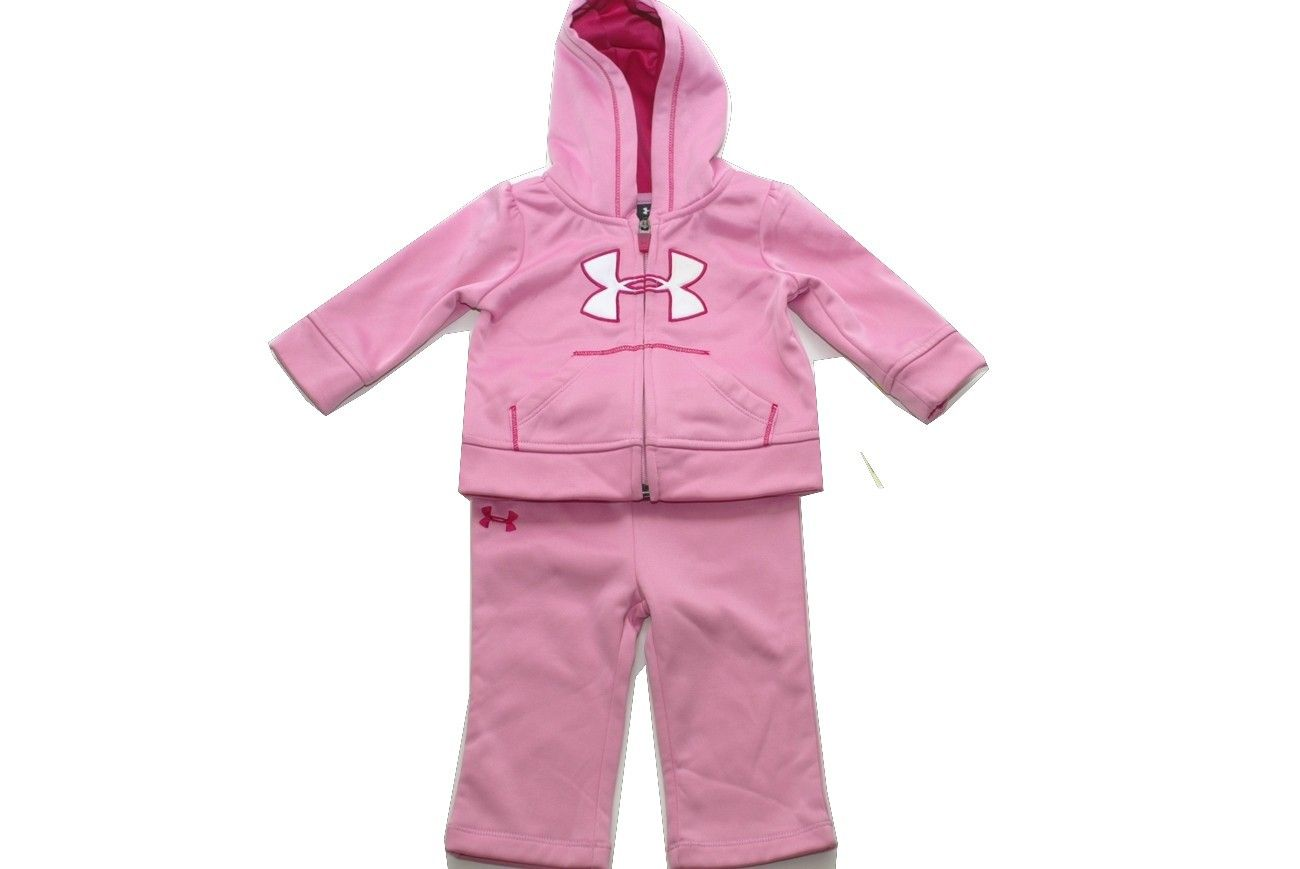 Baby Under Armour fleece hoodie and pants set. Looks so warm and cozy!
