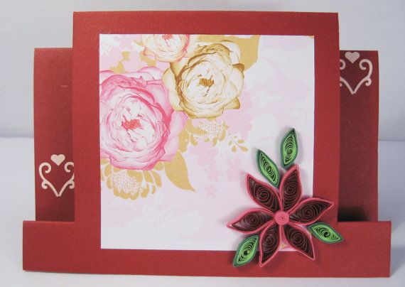 Handmade birthday card quilled greeting card quilling flower handmade birthday card quilled greeting card quilling flower design mom girlfriend birthday m4hsunfo Image collections
