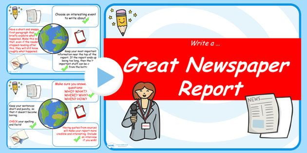 Newspaper Writing Tips Powerpoint  Journalism News Paper Article