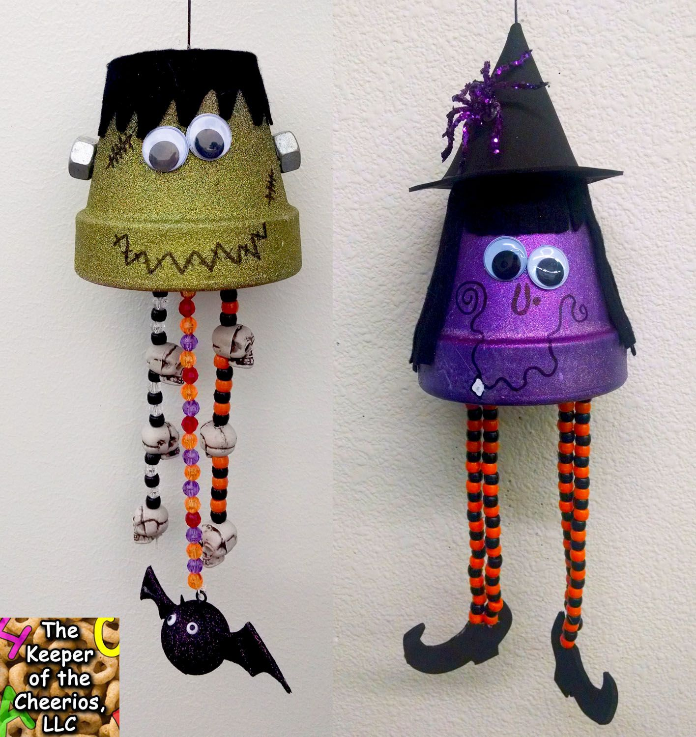 halloween clay pot wind chimes fall and halloween diy