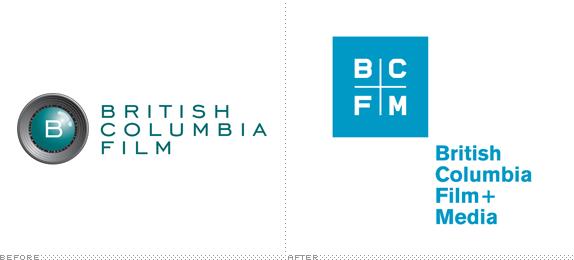British Columbia Film Logo Before And After Film Logo Logo Design Branding Design
