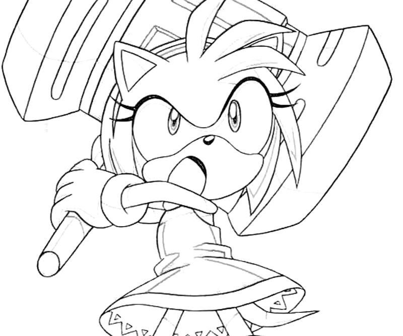 Printable Sonic And Amy Pictures Yahoo Image Search Results Rose Coloring Pages Amy Rose Sonic And Amy