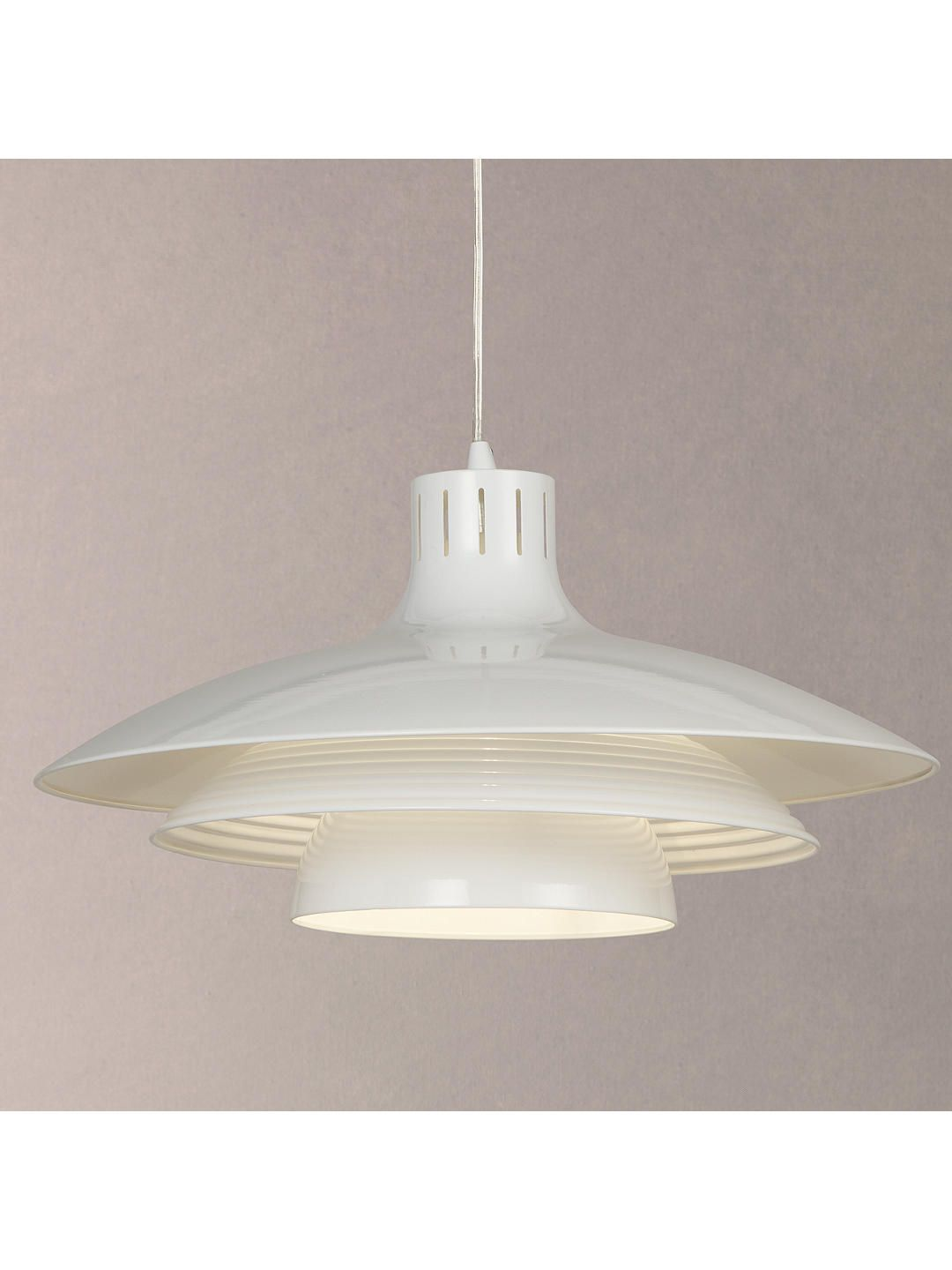 quality design dfa86 4ff8a House by John Lewis Stockholm Large Ceiling Light, White in ...