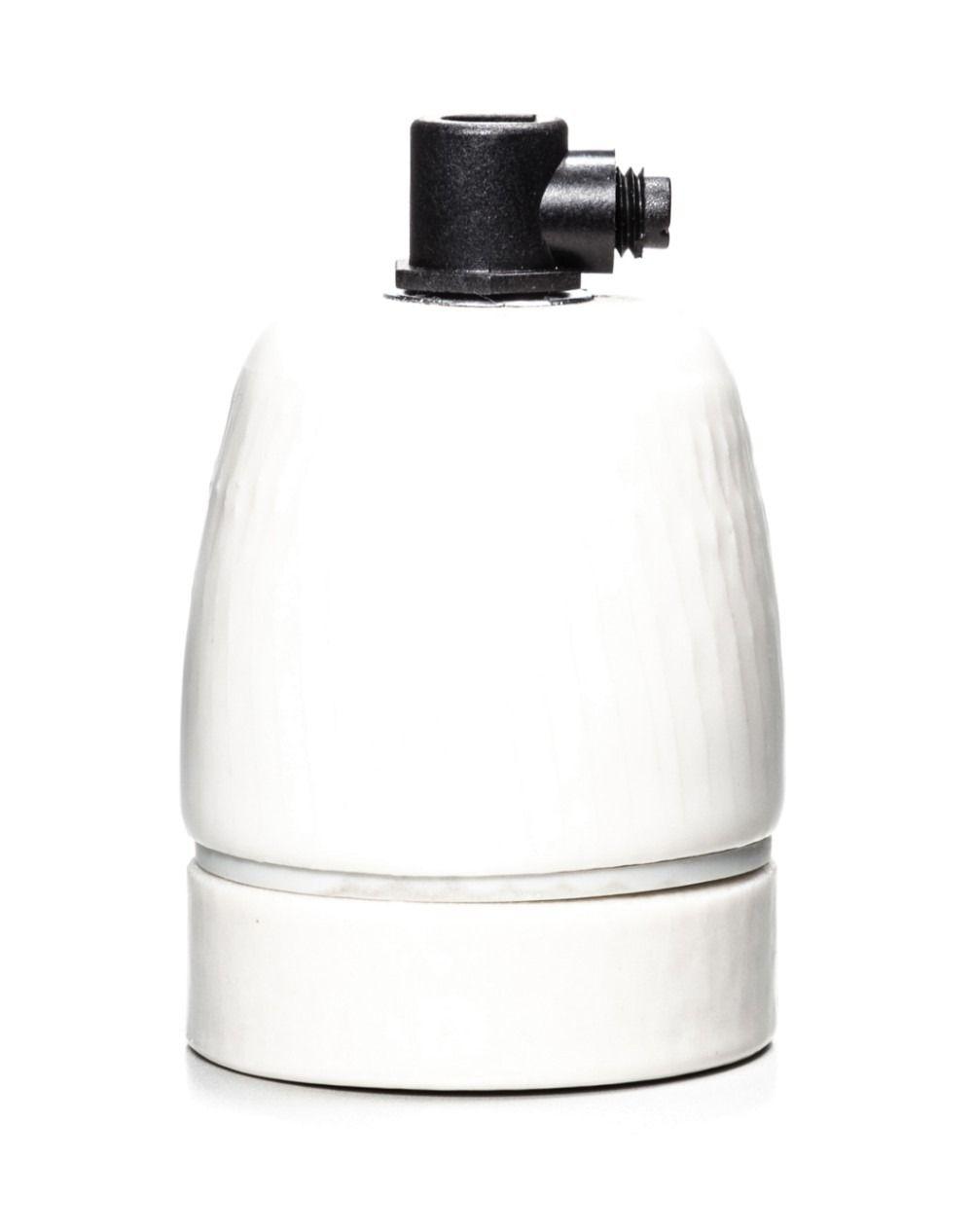 Cord Grip E27 Ceramic Lamp Holders Black White Gasket Ceramics Bulb
