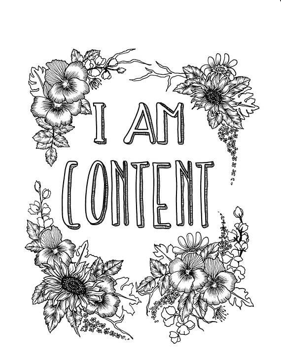 I Am Content SelfAffirmation