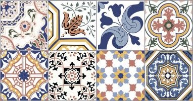 Produtos - Ceusa Revestimentos Cerâmicos - Linha Decorative - Ladrilho Composê Brilhante
