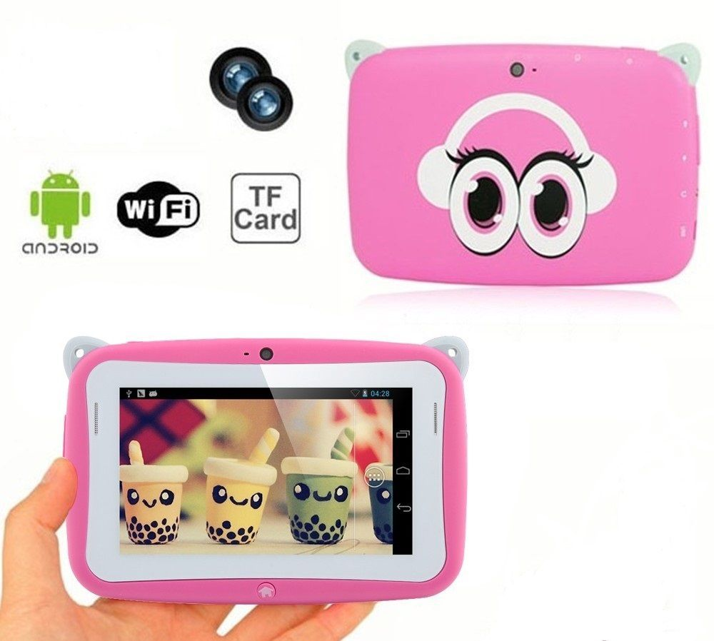"""4.3"""" HD Screen Android 4.2 4GB Kids Children Tablet w/ WiFi OTG Playstore Pink"""