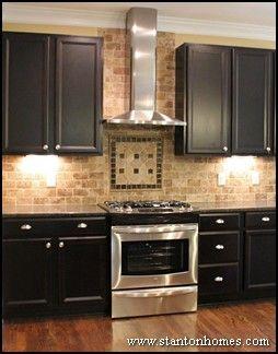 Kitchen Cabinet Backsplash Ideas tile backsplash, granite countertop & oak colored cupboards - bing