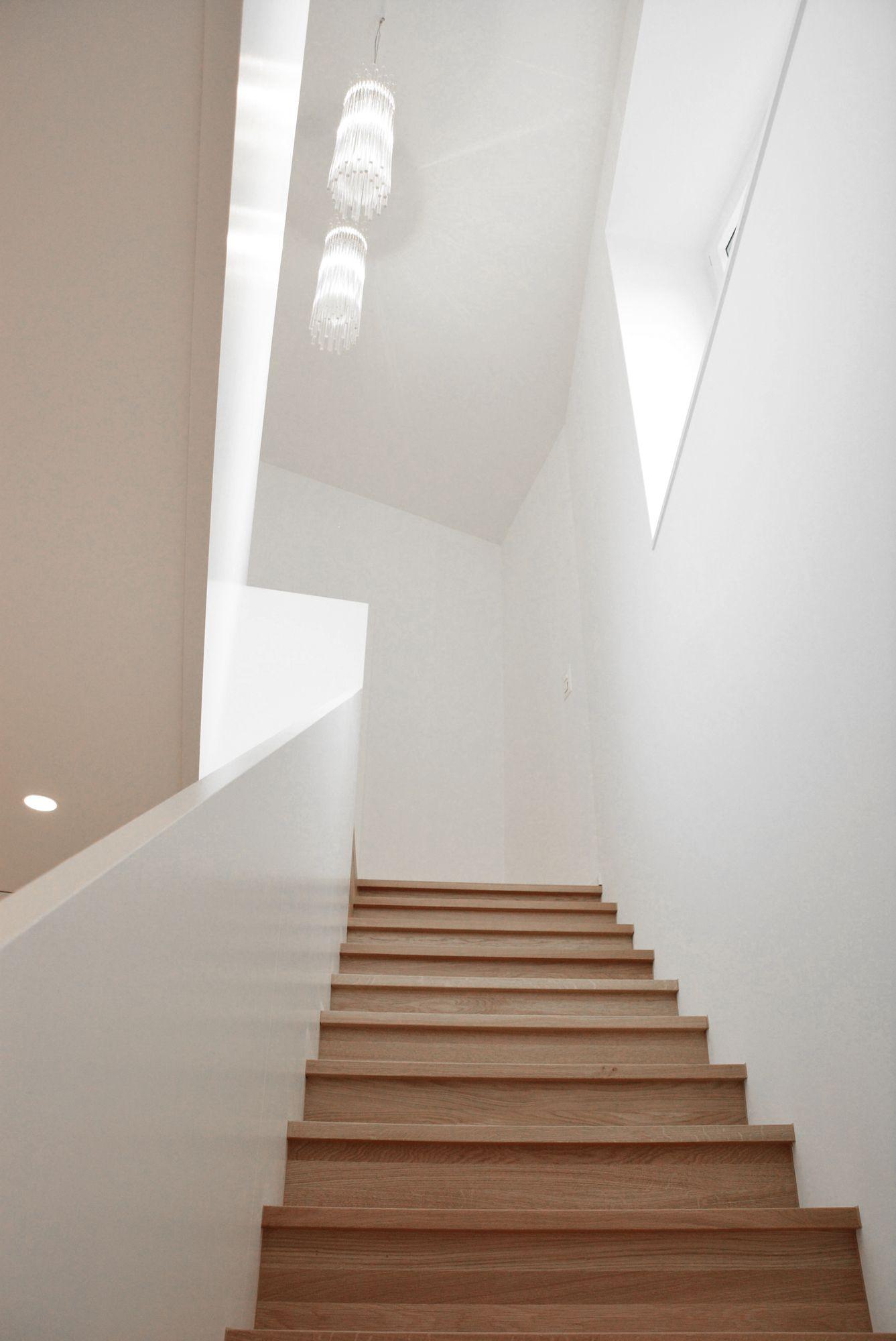 Neubau Wohnhaus Klinkerfassade Zweischalenmauerwerk Eichenparkett