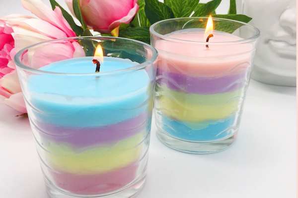 Regenbogen Kerzen selber machen – schöne Bastelideen – Happy Dings – Selbstliebe & Glück