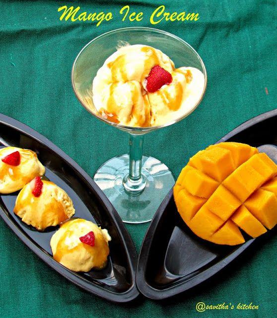 Mango Ice Cream Using Swad Mango Pulp 30oz Sweetened Condensed Milk 14oz Whipped Cream Kraft Cool Whip 8oz And S Mango Ice Cream Mango Indian Food Recipes