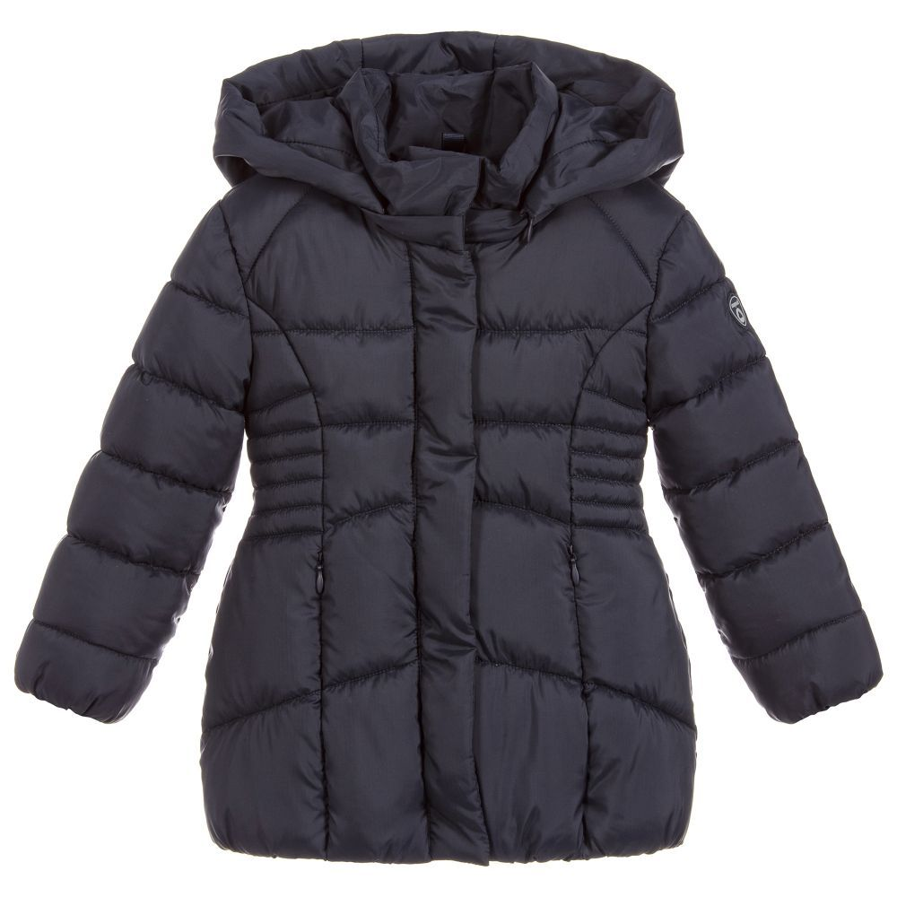 18f0f387fb14 Girls Navy Blue Puffer Coat for Girl by Mayoral. Discover more ...