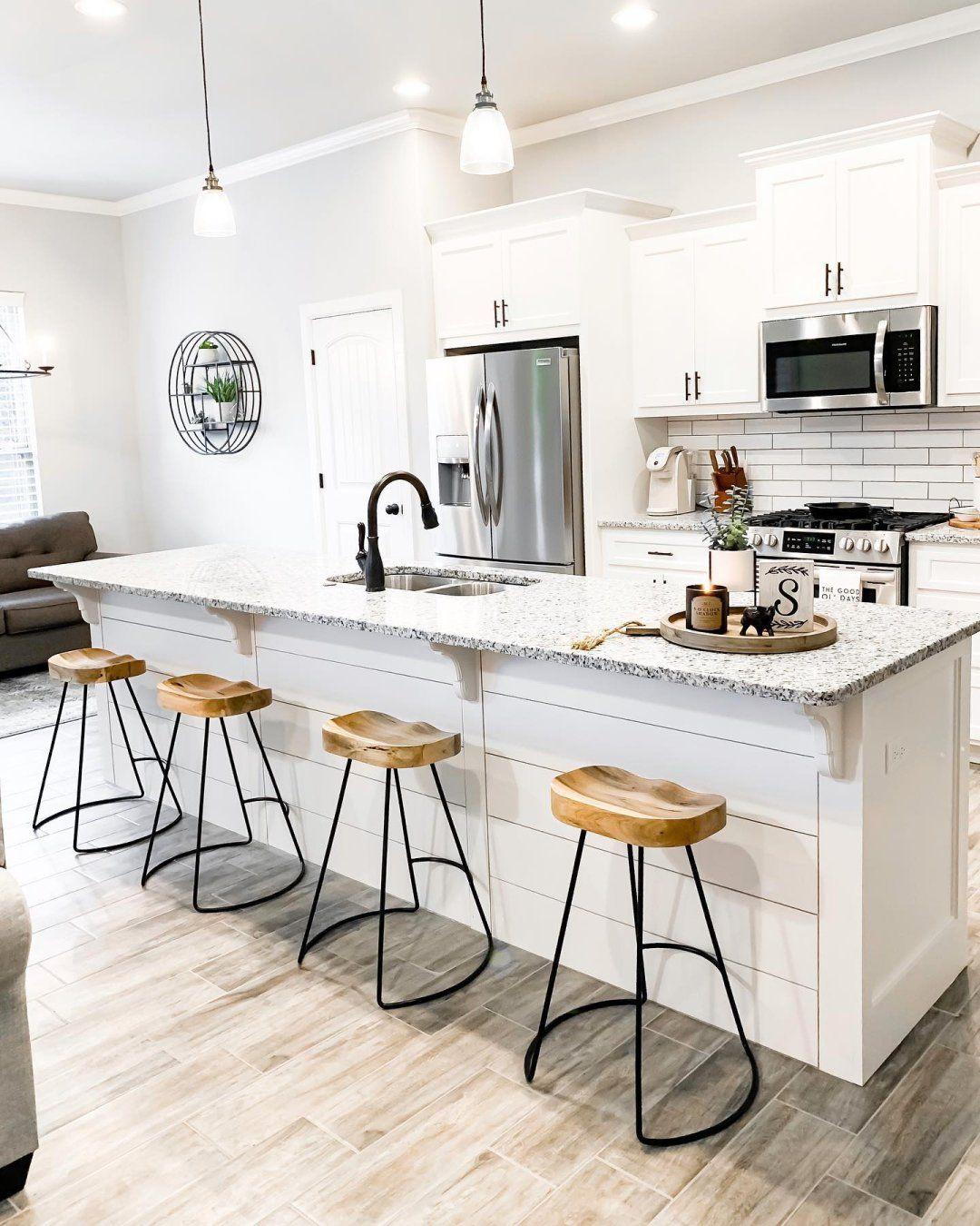 Beautiful simple modern rustic barstools modernfarmhouse ...