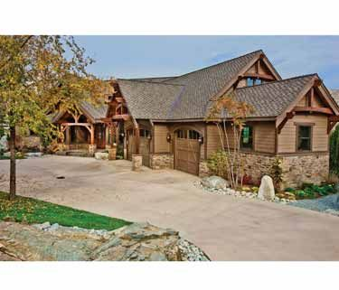 Rustic Lodge with Expansion Outdoor Living (HWBDO69618) | Traditional House Plan from BuilderHousePlans.com