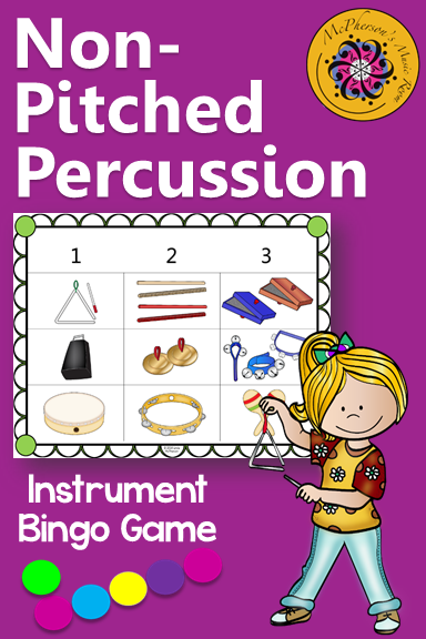 Elementary Music Students Love Bingo Games Especially This Non Pitched Percussion Classroom Instrument
