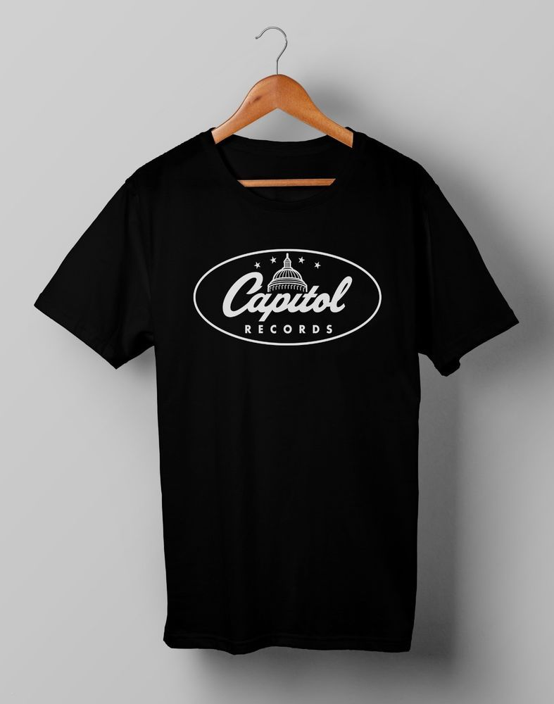 f270be69be4 Vintage Capitol Records Label Logo Retro Black T Shirt Gildan Size S M L XL  2XL #fashion #clothing #shoes #accessories #mensclothing #shirts (ebay link)