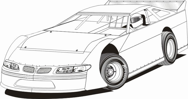 Dirt Late Model Coloring Pages Dirt Late Models Cars Coloring Pages Race Car Coloring Pages