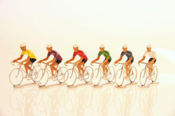 vintage cyclist figurine tour de france