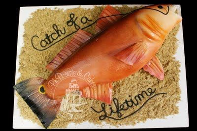 Groom's cake for a man who loves to catch redfish