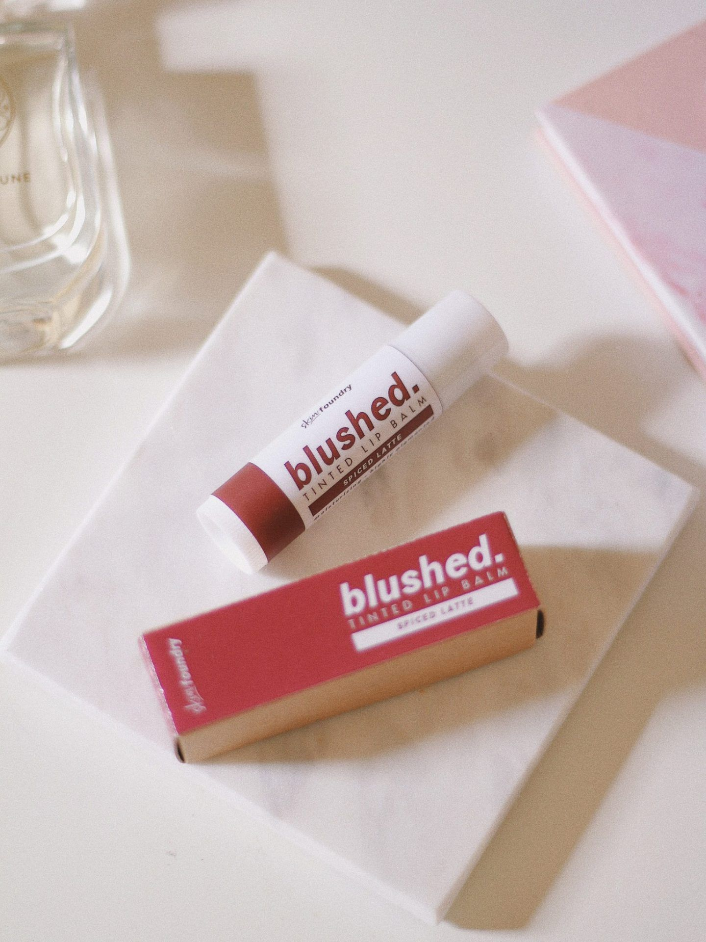 Skin Foundry Blushed Tinted Lip Balm Review Spiced Latte