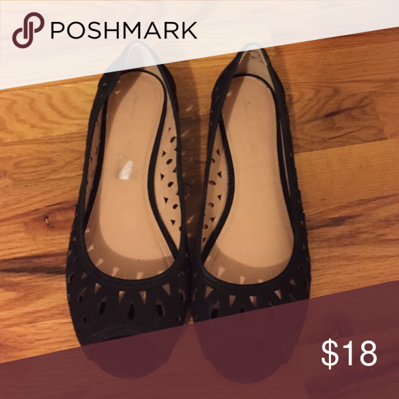 870e5d290aa shoes 12w adorable black flats. 12W. worn once. American Eagle by Payless  Shoes Flats   Loafers