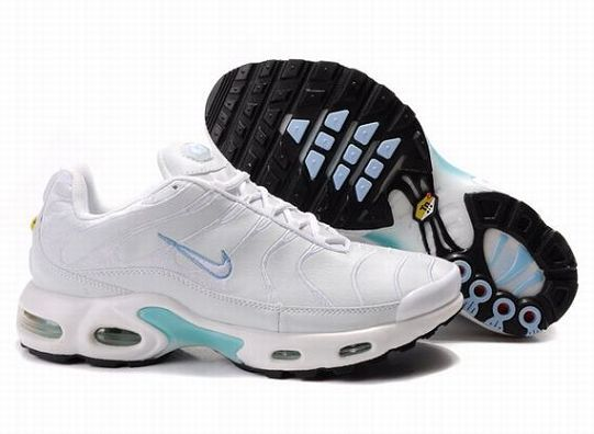 Nike Air Max TN Femme Chaussures De Course Blanc Bleu Noir